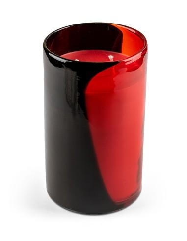 Κόκκινο - μαύρο κηροπήγιο από φυσητό...