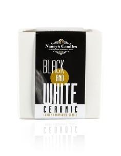 Κεραμικό λευκό κηροπήγιο  με αρωματικό φυτικό κερί